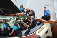 ZEILEN: TERHERNE: Snitser Mar, SKS skûtsjesilen, Teake Klaas van der Meulen (Woudsend), ©foto Martin de Jong