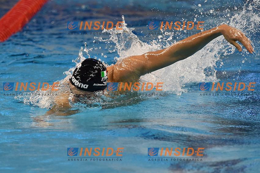 Niccolo' BONACCHI ITA Mixed 4x50m Freestyle Relay <br /> Doha Qatar 06-12-2014 Hamad Aquatic Centre, 12th FINA World Swimming Championships (25m). Nuoto Campionati mondiali di nuoto in vasca corta.<br /> Photo Andrea Staccioli/Deepbluemedia/Insidefoto