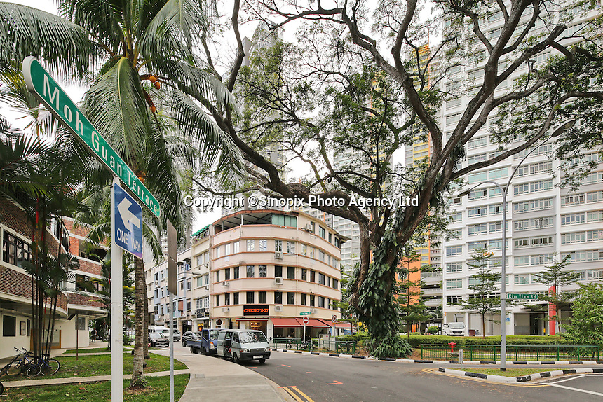 The popular Tiong Bahru Cafe street in Singapore.