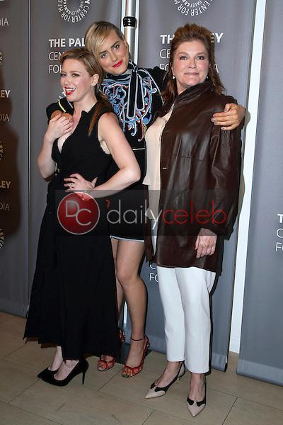 "Natasha Lyonne, Taylor Schilling, Kate Mulgrew<br /> at the Paleylive LA Event with Netflix's ""Orange Is The New Black,"" Paley Center for Media, Beverly Hills, CA 05-26-16<br /> David Edwards/Dailyceleb.com 818-249-4998"
