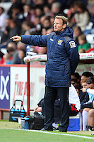 Stevenage Manager Teddy Sheringham during the Sky Bet League 2 match between Stevenage and Wycombe Wanderers at the Lamex Stadium, Stevenage, England on 17 October 2015. Photo by PRiME Media Images.