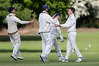J Parry of Hutton celebrates taking the wicket of U Sultan during Hutton CC vs Gidea Park and Romford CC, Shepherd Neame Essex League Cricket at the Polo Field on 11th May 2019