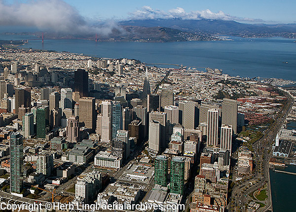 aerial photograph Transbay San Francisco financial district