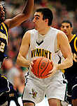 13 December 2009: University of Vermont Catamounts' forward Evan Fjeld, a Junior from Durham, NC, in action against the Quinnipiac University Bobcats at Patrick Gymnasium in Burlington, Vermont. The Catamounts defeated the visiting Bobcats 80-77 to mark the Cats' season home opener with a win. Mandatory Credit: Ed Wolfstein Photo
