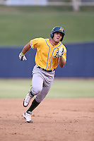 Brett Siddall (20) of the AZL Athletics runs the bases during a game against the AZL Brewers at Maryvale Baseball Park on June 30, 2015 in Phoenix, Arizona. Brewers defeated Athletics, 4-2. (Larry Goren/Four Seam Images)
