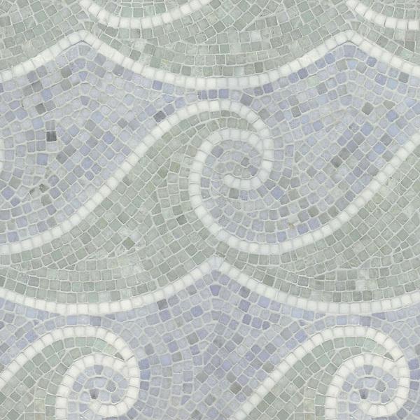 Name: Jordan Wave<br /> Style: Classic<br /> Product Number: CB121<br /> Description: Jordan Wave in Thassos, Ming Green, Celeste (t)