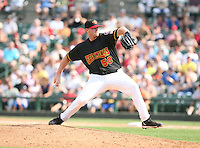 2007:  Tim Lahey of the Rochester Red Wings, Class-AAA affiliate of the Minnesota Twins, during the International League baseball season.  Photo By Mike Janes/Four Seam Images