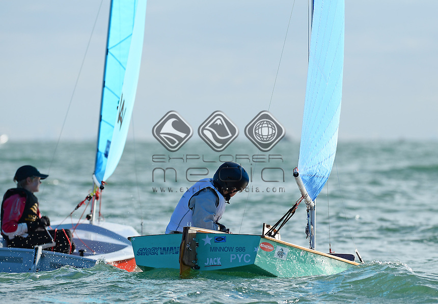Minnow / Jack Challands  (AUS)<br /> 2013 ISAF Sailing World Cup - Melbourne<br /> Sail Melbourne - The Asia Pacific Regatta<br /> Sandringham Yacht Club, Victoria<br /> December 1st - 8th 2013<br /> &copy; Sport the library / Jeff Crow