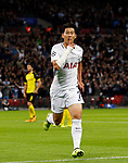 Tottenham's Heung-Min Son celebrates scoring his sides opening goal during the champions league match at Wembley Stadium, London. Picture date 13th September 2017. Picture credit should read: David Klein/Sportimage