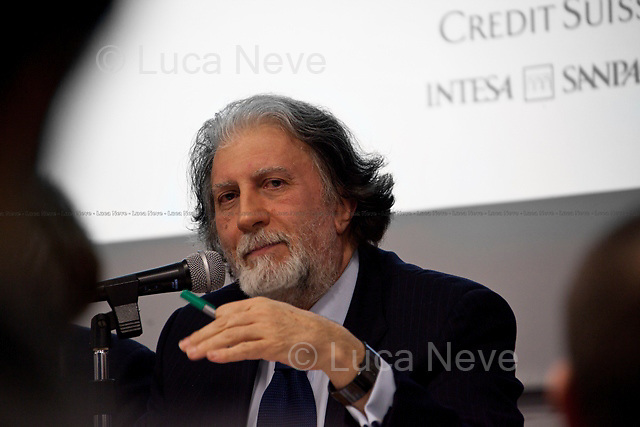 """Roberto Scarpinato, Italian magistrate - 2012<br /> <br /> London, 06/02/2012. """"The Criminality of those in power and the Italian decline"""". Leoluca Orlando (former anti-mafia Mayor of Palermo and Italia dei Valori MP) and Roberto Scarpinato (Magistrate and General attorney of the Prosecutor of Caltanissetta, Sicily) held a meeting at LSE, in which they discussed the mafia as a powerful criminal system involved in both the economy and politics in Italy."""