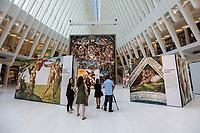 NEW YORK, NY, 22.06.2017 - EXPOSIÇÃO-MICHELANGELO - Visão geral da exposição Up Close: Capela Sistina de Michelangelo no The Oculus no Westfield World Trade Center em 22 de junho de 2017, na cidade de Nova York. (Foto: Vanessa Carvalho/Brazil Photo Press)