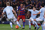 14.02.2016 Camp Nou, Barcelona, Spain. La Liga day 24. Match between FCBarcelona and Celta de Vigo. Neymar take a shot on goal