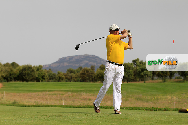 Playing with Andy Sullivan (ENG) on the 4th green during the Pro-Am of the Open de Espana  in Club de Golf el Prat, Barcelona on Wednesday 13th May 2015.<br /> Picture:  Thos Caffrey / www.golffile.ie