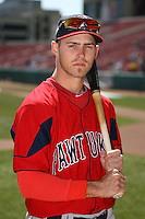 April 14, 2010:  Outfielder Josh Reddick of the Pawtucket Red Sox before a game at Coca-Cola Field in Buffalo, New York.  Pawtucket is the Triple-A International League affiliate of the Boston Red Sox.  Photo By Mike Janes/Four Seam Images