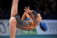"GANNA RIZATDINOVA of Ukraine performs in Event Finals at 2011 World Cup Kiev, ""Deriugina Cup"" in Kiev, Ukraine on May 8, 2011."