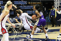 BERKELEY, CA - November 25, 2016: Duquesne Dukes and Western Carolina Catamounts at Haas Pavilion. Final score, Duquesne Dukes 65, Western Carolina Catamounts  50.
