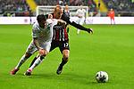 06.10.2019, Commerzbankarena, Frankfurt, GER, 1. FBL, Eintracht Frankfurt vs. SV Werder Bremen, <br /> <br /> DFL REGULATIONS PROHIBIT ANY USE OF PHOTOGRAPHS AS IMAGE SEQUENCES AND/OR QUASI-VIDEO.<br /> <br /> im Bild: Leonardo Bittencourt (SV Werder Bremen #10), Sebastian Rode (Eintracht Frankfurt #17)<br /> <br /> Foto © nordphoto / Fabisch