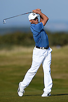 Surfer Kelly Slater in action during Round 3 of the 2015 Alfred Dunhill Links Championship at the Old Course, St Andrews, in Fife, Scotland on 3/10/15.<br /> Picture: Richard Martin-Roberts | Golffile