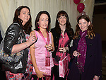 Jane Waters, Lorraine Neary, Suzanne Moore and Angela Reynolds who attended the 'Pink & Bling' in aid of breast cancer awareness at the Black Bull. Photo:Colin Bell/pressphotos.ie