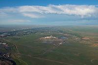Comanche power plant and City of Pueblo.  Aug 8, 2014. 811502