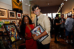 Charmaine Blake and Guest.Marvel Artworks Party.Every Picture Tells A Story Gallery.Santa Monica, California.29 July 2009.Photo by Nina Prommer/Milestone Photo