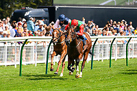 Winner of The Sorvio Insurance Brokers Maiden Auction Fillies' Stakes  Elegant Erin ridden by Tom Marquand and trained by Richard Hannon during Horse Racing at Salisbury Racecourse on 15th August 2019