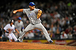 12 September 2008: Kansas City Royals' pitcher Joel Peralta on the mound in relief against the Cleveland Indians at Progressive Field in Cleveland, Ohio. The Indians defeated the Royals 12-5 in the first game of their 4-game series...Mandatory Photo Credit: Ed Wolfstein Photo