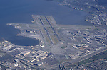 Aerial view of San Francisco International Airport.