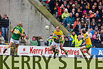 David Moran Kerry in action against Neil Gallagher Donegal in Division One of the National Football League at Austin Stack Park Tralee on Sunday.