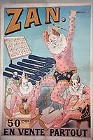 Europe/France/Languedoc-Roussillon/30/Gard/Uzès: Ancienne affiche pour Zan Confiserie à la réglisse au musée du bonbon Haribo (route de Remoulins)