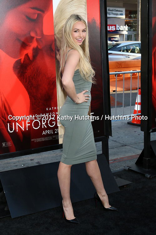 """LOS ANGELES - APR 18:  Corinne Olympios at the """"Unforgettable"""" Premiere at TCL Chinese Theater IMAX on April 18, 2017 in Los Angeles, CA"""