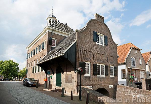 Nederland  Nieuwpoort 2017.  De achterzijde van het oude Stadhuis van Nieuwpoort, Zuid-Holland.  Foto Berlinda van Dam / Hollandse Hoogte