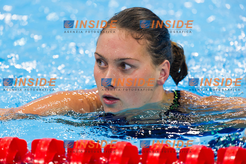 NIELSEN Mie Oe DEN<br /> London, Queen Elizabeth II Olympic Park Pool <br /> LEN 2016 European Aquatics Elite Championships <br /> Swimming<br /> Women's 100m backstroke preliminary  <br /> Day 10 18-05-2016<br /> Photo Giorgio Perottino/Deepbluemedia/Insidefoto