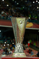 the cup seen  during Europa League Semi Final first    leg soccer match, between SSC Napoli and  Dinipro   at  the San Paolo   stadium in Naples  Italy , May 07, 2015