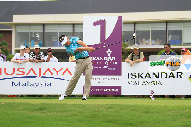 Charlie Wi (KOR) tees off on the 1st tee to start his match during Friday's Round 2 of the 2011 Iskandar Johor Open, Horizon Hills Golf Club, Johor, Malaysia, 18th November 2011 (Photo Eoin Clarke/www.golffile.ie)