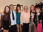 Tamara Martin celebrating her 18th birthday with mam Kim, sisters Natasha, Daniella and Nicole and grandparents George and May Beardsley. Photo:Colin Bell/pressphotos.ie