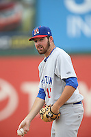 Corey Walter (12) of the Stockton Ports throws in the bullpen during a game against the Inland Empire 66ers at San Manuel Stadium on June 28, 2015 in San Bernardino, California. Stockton defeated Inland Empire, 4-1. (Larry Goren/Four Seam Images)
