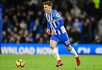 Solly March of Brighton & Hove Albion (20)  In action during the EPL - Premier League match between Brighton and Hove Albion and Burnley at the American Express Community Stadium, Brighton and Hove, England on 16 December 2017. Photo by Edward Thomas / PRiME Media Images.