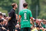 07.07.2019, Parkstadion, Zell am Ziller, AUT, TL Werder Bremen Zell am Ziller / Zillertal Tag 03 - FSP Blitzturnier<br /> <br /> im Bild<br /> Martin Harnik (Werder Bremen #09) Kapitän / mit Kapitänsbinde bei Florian Kohfeldt (Trainer SV Werder Bremen) in Coachingzone / an Seitenlinie, <br /> <br /> im dritten Spiel des Blitzturniers SV Werder Bremen vs Karlsruher SC, <br /> <br /> Foto © nordphoto / Ewert