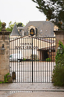 entrance gate chateau haut brion pessac leognan graves bordeaux france