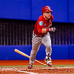 26 March 2018: St. Louis Cardinals infielder Jedd Gyorko in action during an exhibition game against the Toronto Blue Jays at Olympic Stadium in Montreal, Quebec, Canada. The Cardinals defeated the Blue Jays 5-3 in the first of two MLB pre-season games in the former home of the Montreal Expos. Mandatory Credit: Ed Wolfstein Photo *** RAW (NEF) Image File Available ***