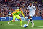 UEFA Champions League 2018/2019 - Matchday 1.<br /> FC Barcelona vs PSV Eindhoven: 4-0.<br /> Jeroen Zoet &amp; Denzel Dumfries.