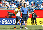 U.S. assistant coach Mike Sorber (r) with Landon Donovan (l) on Saturday, June 16th, 2007 at Gillette Stadium in Foxboro, Massachusetts. The United States Men's National Team defeated Panama 2-1 in a 2007 CONCACAF Gold Cup quarterfinal game.