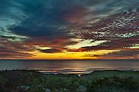 Dramatic ocean sunrise, Cape Cod, Massachusetts, USA