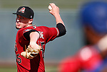Taylor Clarke pitches for the Arizona Diamondbacks during a split-squad spring training game against the Texas Rangers, in Surprise, Ariz., on Thursday, March 5, 2020.  The D-backs won 11-9. <br /> Photo by Cathleen Allison/Cathleen Allison Photography
