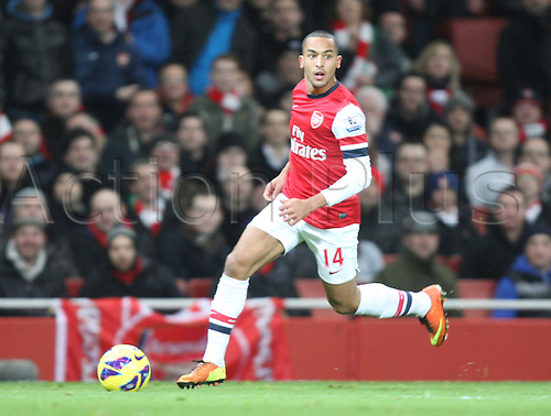 30.01.2013. London, England. Theo Walcott of Arsenal in action during the Premier League game between Arsenal and Liverpool from The Emirates Stadium