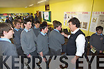 Bill Cullen Meeting students at Tralee CBS the Green