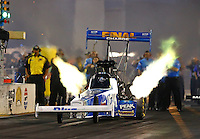 Jul. 26, 2013; Sonoma, CA, USA: NHRA top fuel dragster driver T.J. Zizzo during qualifying for the Sonoma Nationals at Sonoma Raceway. Mandatory Credit: Mark J. Rebilas-