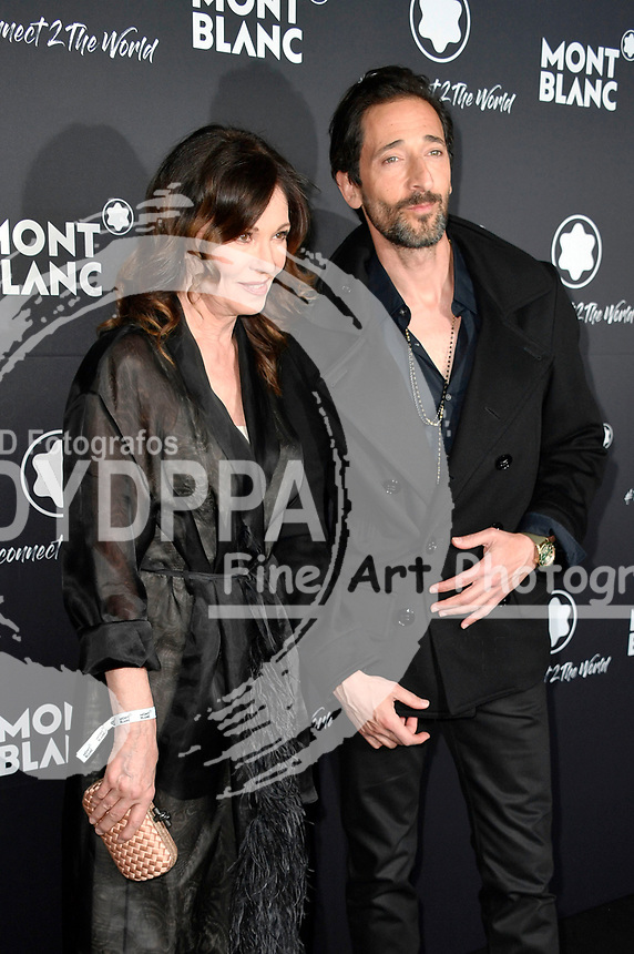 Iris Berben und Adrien Brody beim Montblanc Travel & the Arts Events vor dem Gallery Weekend im Metropoltheater. Berlin, 24.04.2019