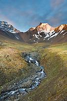 Landscape of Refuge Valley, Denali National Park, Interior, Alaska.
